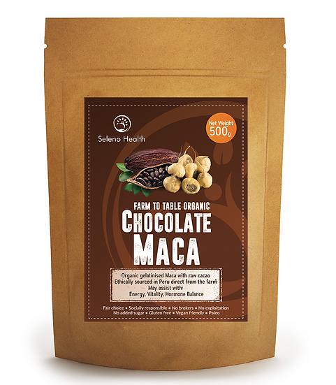 Organic Gelatinized Chocolate Maca - 500 gram