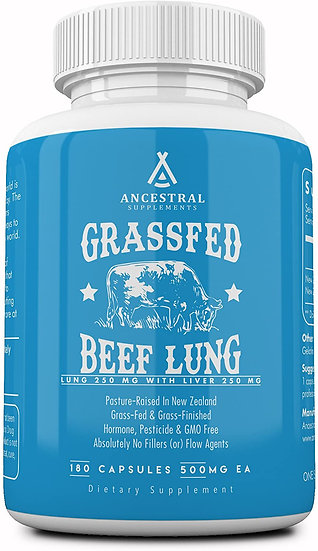 Grass-Fed Beef Lung (w/ Liver) - 180 caps