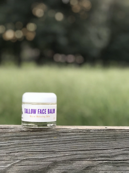 Tallow Face Balm for Dry or Maturing Skin - 2.3 oz