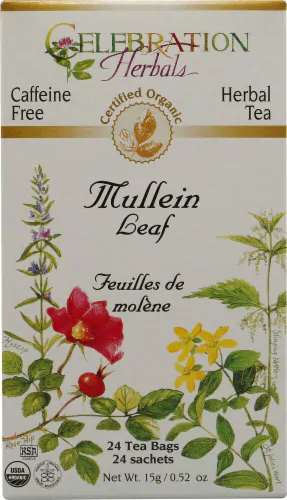 Organic Mullein Leaf - 24 tea bags