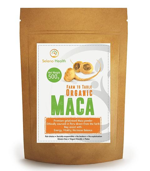Organic Activated (Gelatinized) Yellow Maca - 500 gram