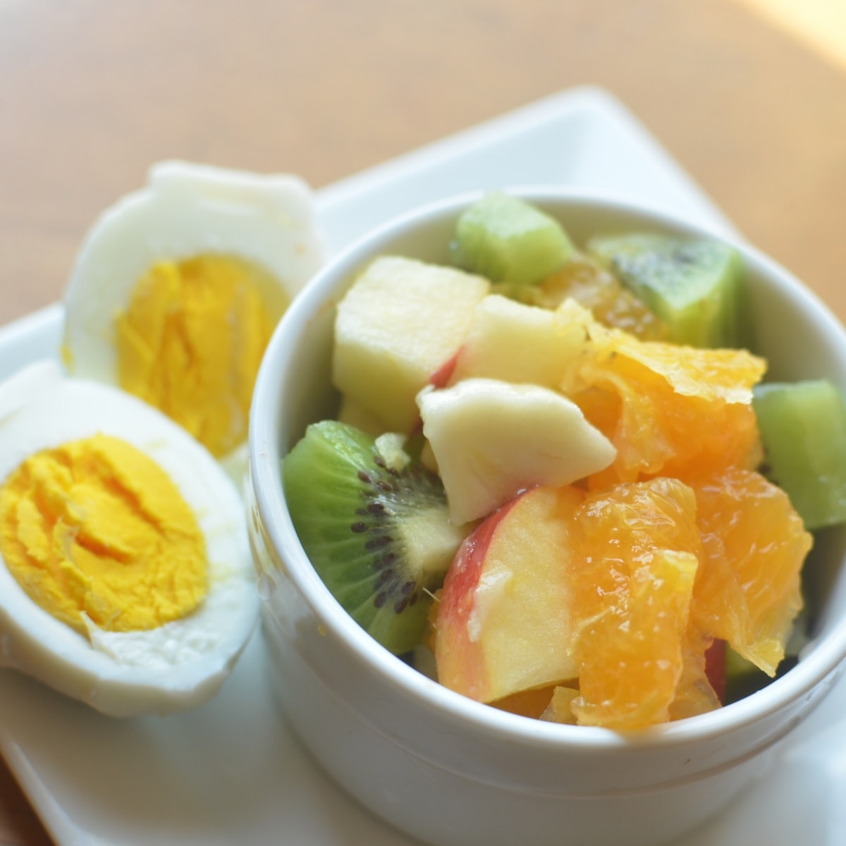 Hard boiled eggs & fruit