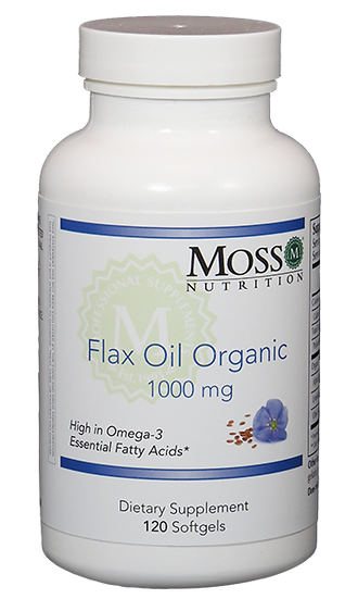 Organic Flax Oil 1000 mg - 120 softgels