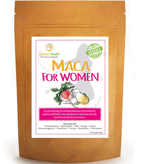 Organic Activated (Gelatinized) Maca for Women - 300 grams - 3 pack