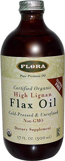 High Lignan Flax Oil - 17 oz