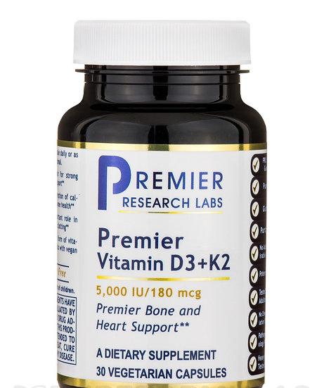 Vitamin D3 and K2 - 30 capsules