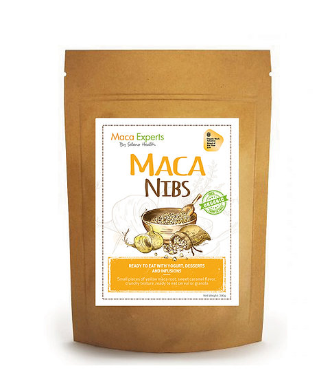 Organic Activated (Gelatinized) Maca Nibs - 300 grams