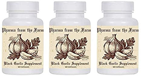 Aged Black Garlic 500 mg - 60 capsules - 3 Pack