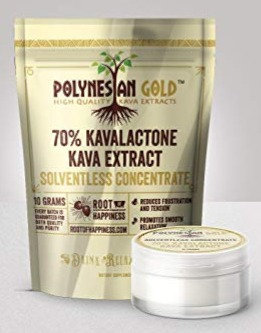 Polynesian Gold Solventless Concentrate 70% Kavalactone Kava  - 10 gram