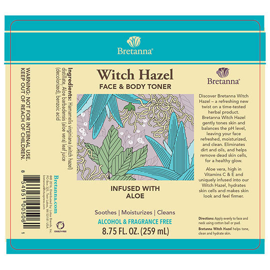 Witch Hazel Face and Body Toner A/F - 8.75 oz