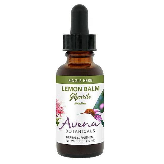 Lemon Balm Leaves and Flowers Glycerite - 1 oz