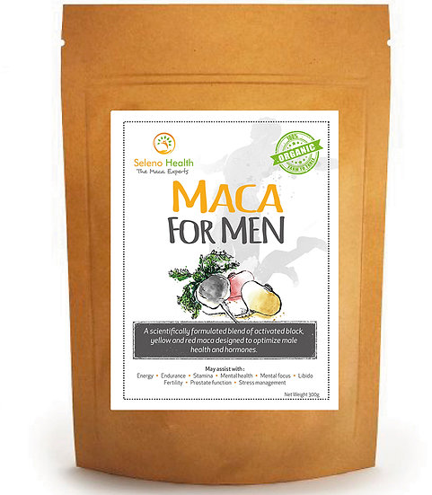 Organic Activated (Gelatinized) Maca for Men - 300 grams - 3 pack