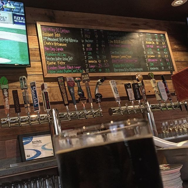 So many choices but starting with Linden Street Brewery's black lager and then..