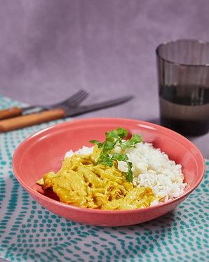 Ají de pollo y arroz con choclo (para dos)