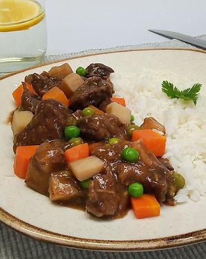 Guiso de carne con arroz (para dos)