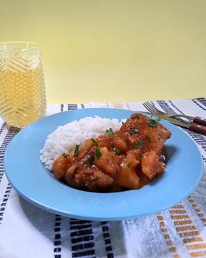 Carapulcra de cerdo con arroz blanco (para dos)