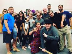 Addams Family Rehearsal