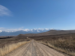 Viewing the Mission Mountains from the National Bison Range