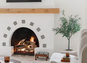 The Centennial House: Fireplace Before + After