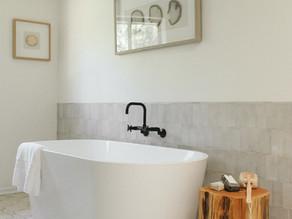 Tile Wainscot in Master Bathrooms