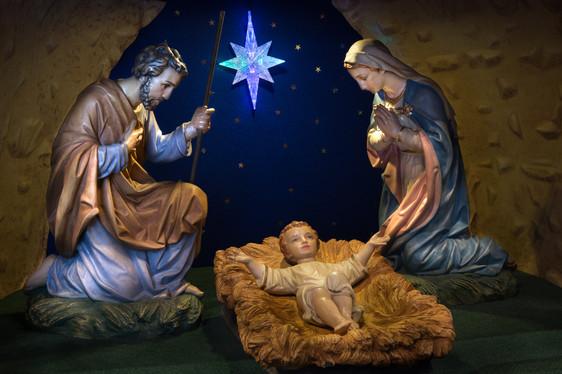Nativity Scene during Christmas