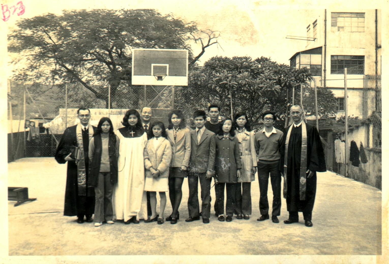1972年聖誕洗禮合照