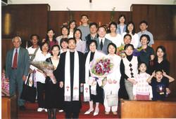 2004年按立徐敏賢牧師及梁桂霞牧師