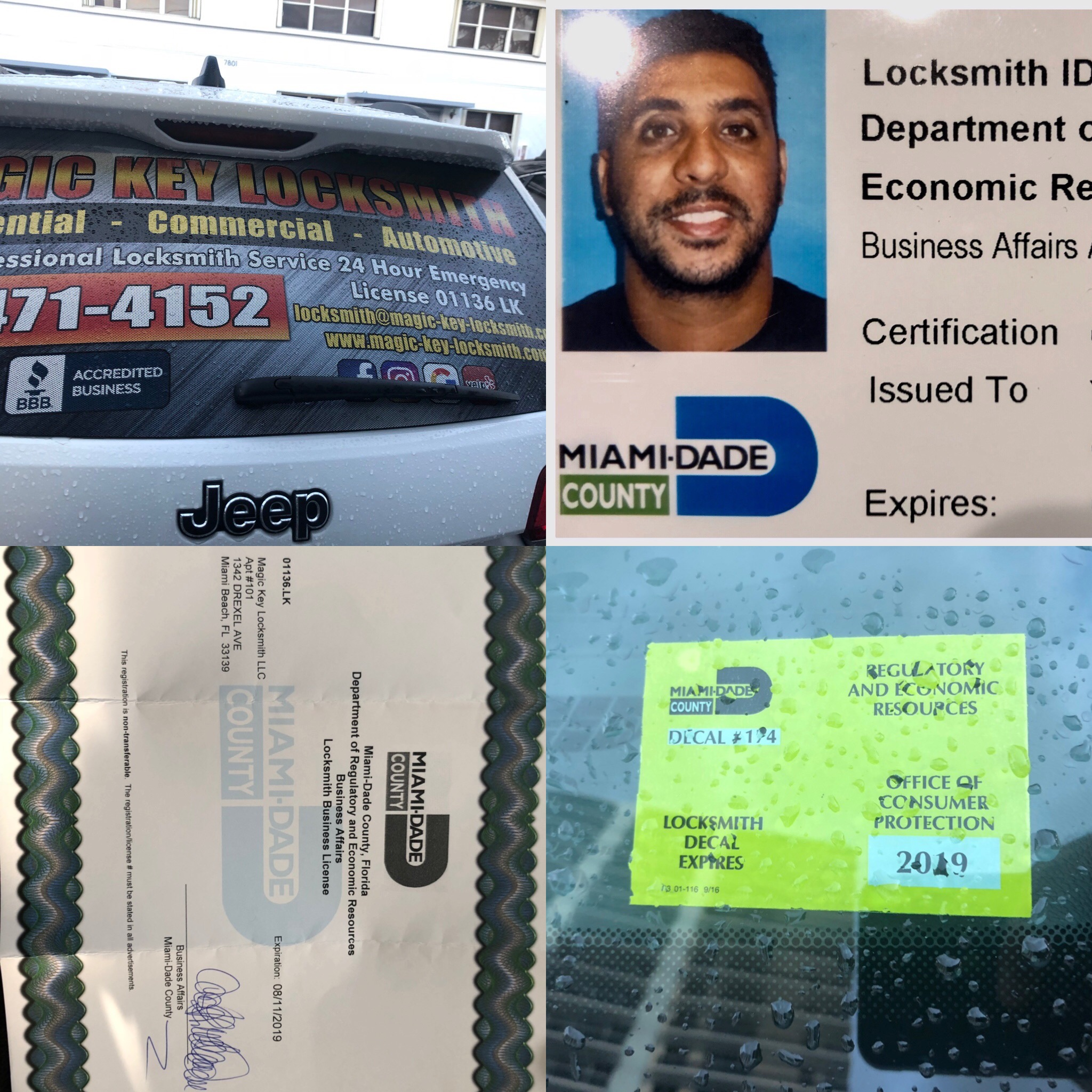 LOCKSMITH licenses