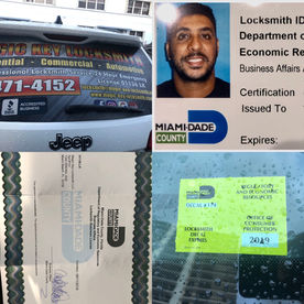 locksmith licenses by miami dade