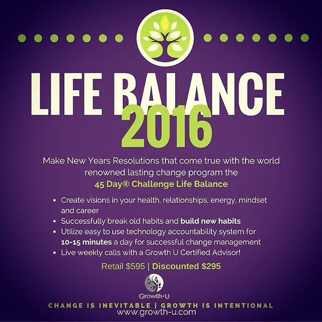 45 Day Life Balance Challenge Starts TOMORROW - sign up NOW!