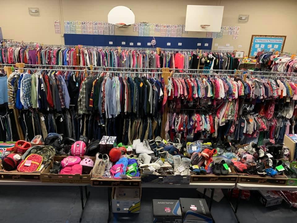 The clothing racks are full!