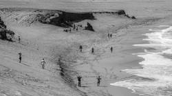 playa blanco y negro