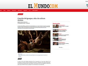 El Mundo habla de Canción de Iguaque.