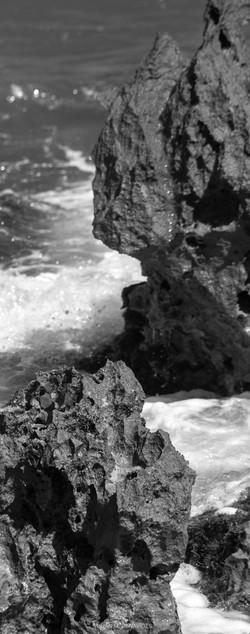 mar blanco y negro
