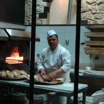Man making fresh bread
