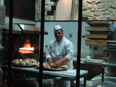 Man making fresh bread