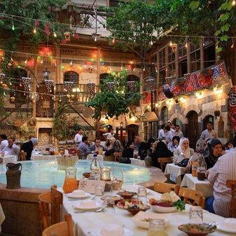 Open Air Restaurant in Damascus