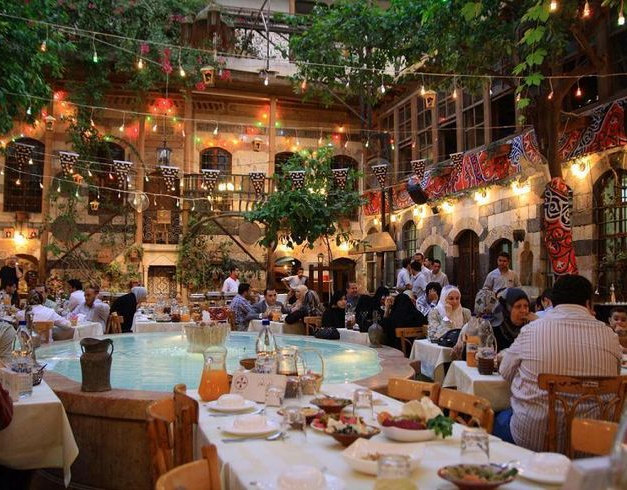 Open Air Restaurant in Damascus