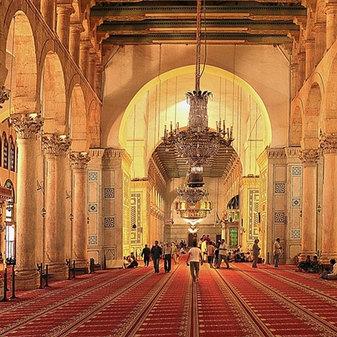 Inside Omayyad Mosque, Damascus