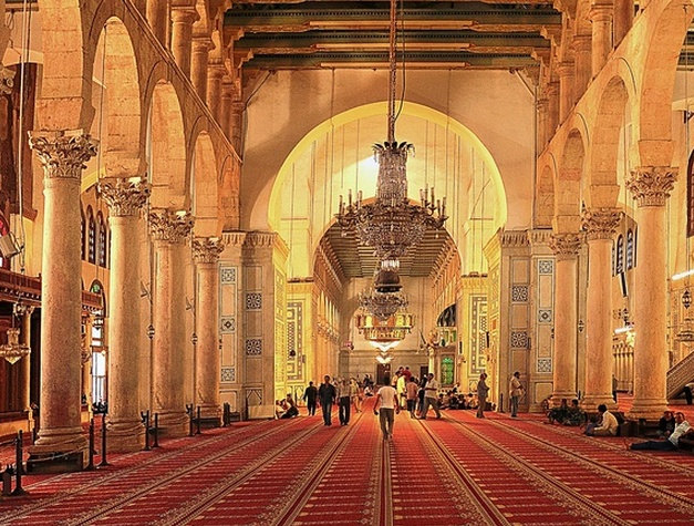 Inside Omayyad Mosque, Damascus