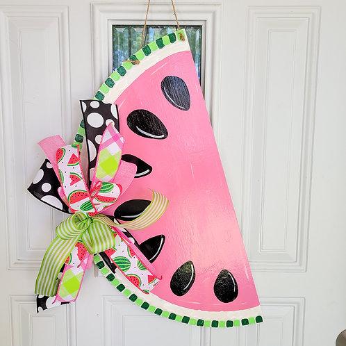 Watermelon door hanger, summer door decor, summer door hanger for front door