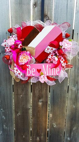 Valentine's wreath,  Valentine's day decor,  Valentine's day wreath,  heart