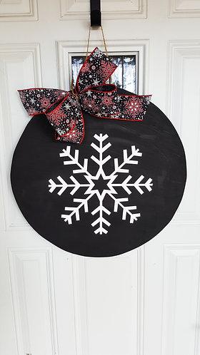 Winter door hanger,  snowflake door hanger,  winter decor for front door,  snow