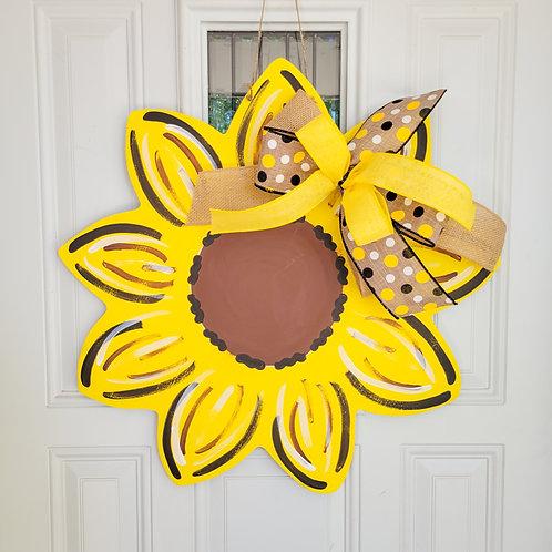 Sunflower door hanger, summer door hanger, summer door,sunflower decor