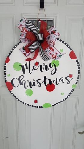 Christmas door hanger for front door,  Christmas front door,  Christmas decor