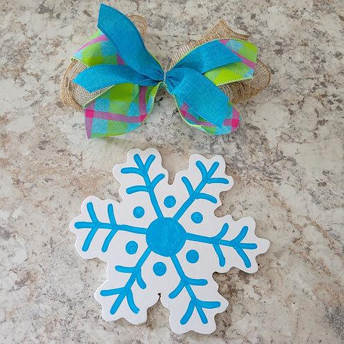 Snowflake attachment, interchangeable wreath, attachment
