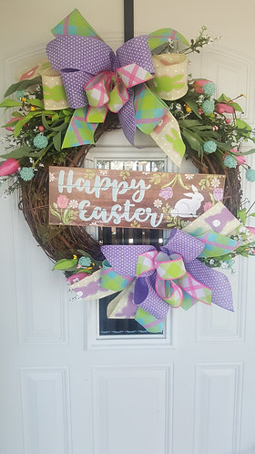 Beautiful Spring wreath,  Rustic Easter Wreath