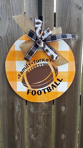 Fall Door Hanger for front door,  fall decor,  fall door decor,  football door