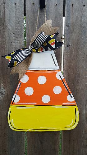 Candy corn door hanger,  fall door hanger,  Halloween decor,  candy corn decor