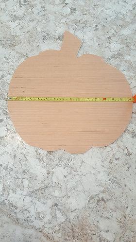 Pumpkin wood blank, pumpkin door hanger, wood blank